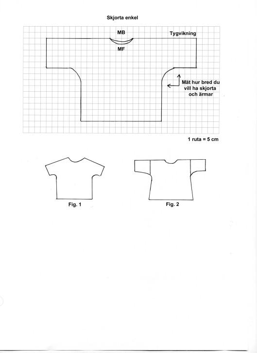 Enkel skjorta