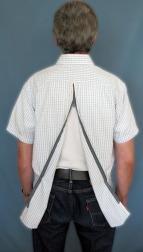 Skjorta öppen i ryggen