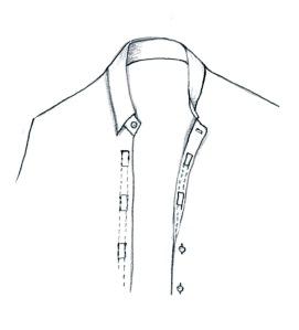 Skjorta med kardborrknäppning