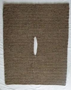 Virkad schal Fuga tweed 2
