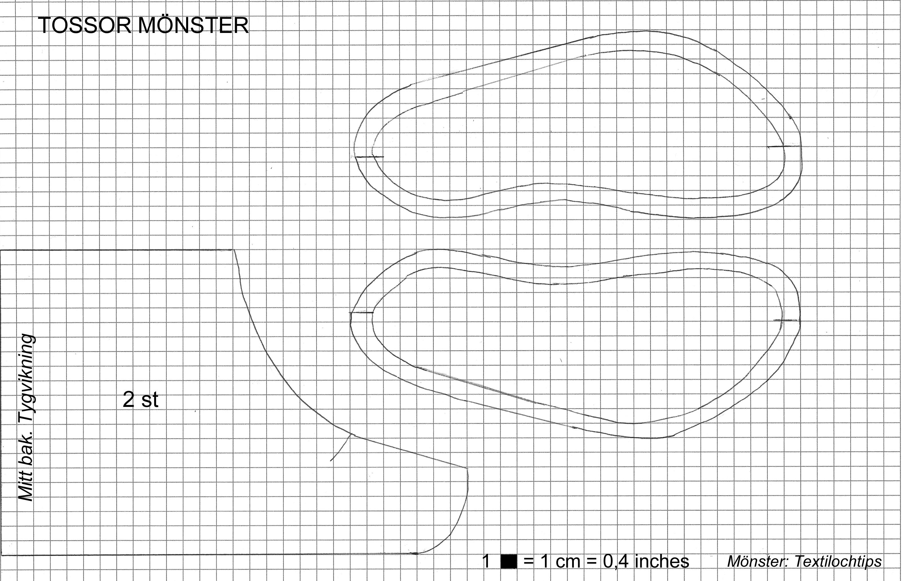 Tossor mönster.Färdig.Med text.20x12