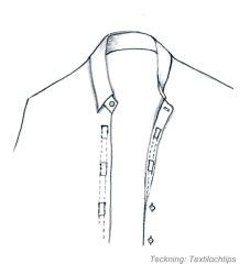 Skjorta med kardborrknäppning text