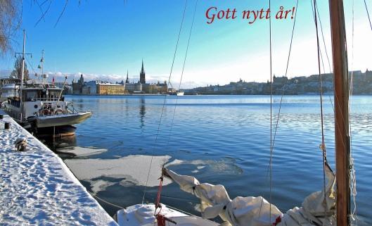 Utsikt mot Riddarholmen gott nytt årl